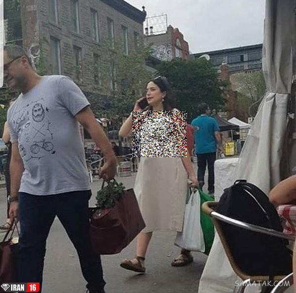 عکس بد حجاب نگار جواهریان در کانادا