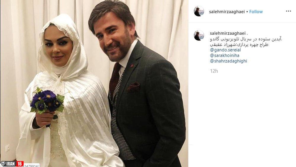 عکس | سارا خوئینیها در لباس عروسی