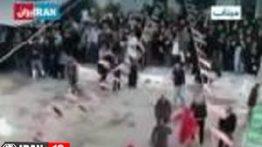 فیلم بازداشت شمر بخاطر حمله به تماشاگران تعزیه