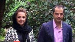 گردش شبنم قلی خانی و همسرش در پارک+عکس