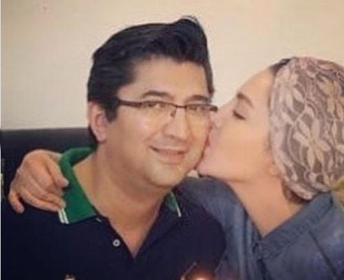 بوسه جنجالی شیلا خداداد و همسرش