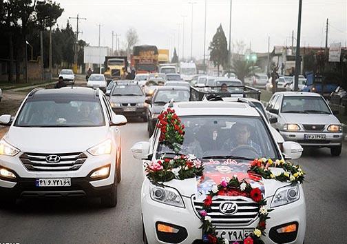 ماشین عروس سردار + عکس