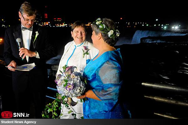 عکس هایی از ازدواج احمقانه هم جنس بازان!