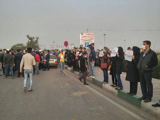 عکس: تجمع اهوازی ها در اعتراض به آلودگی هوا