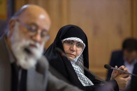 حجاب متفاوت و معنادارخانم شورای شهر تهران (عکس)