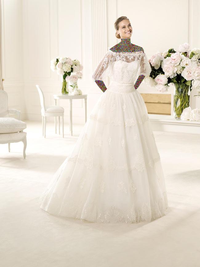 Hotnaz com   26e67f36ceab26850ea0ec2d05f8474d1 شیک ترین لباس عروس های 2014