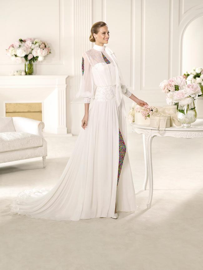 Hotnaz com   2eec88eb99eb9511a2b1d20b5d7b5ee71 شیک ترین لباس عروس های 2014