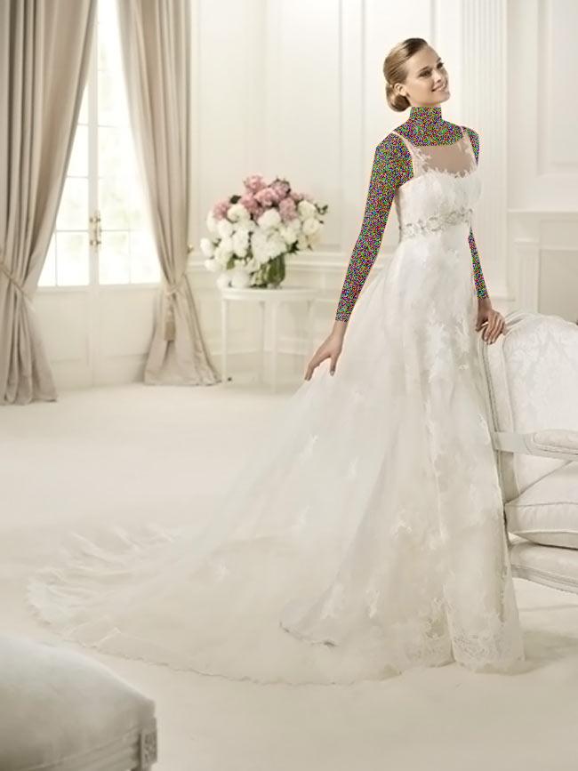 Hotnaz com   6e2ec10f67056b74a44e0c7cc701c8601 شیک ترین لباس عروس های 2014