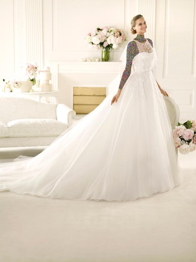 Hotnaz com   bbc72ae880695e96f70259fcc429ed6c1 شیک ترین لباس عروس های 2014