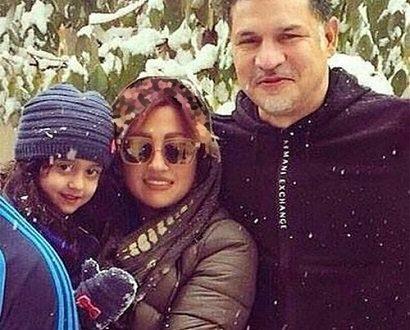 شادی خانواده دایی از بارش برف.