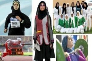 عریان شدن خانمی در اعتراض به حجاب المپیک
