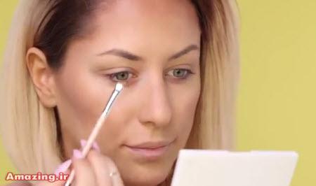 آموزش آرایش صورت ,  کلیپ آموزش آرایش چشم , فیلم آموزش آرایش