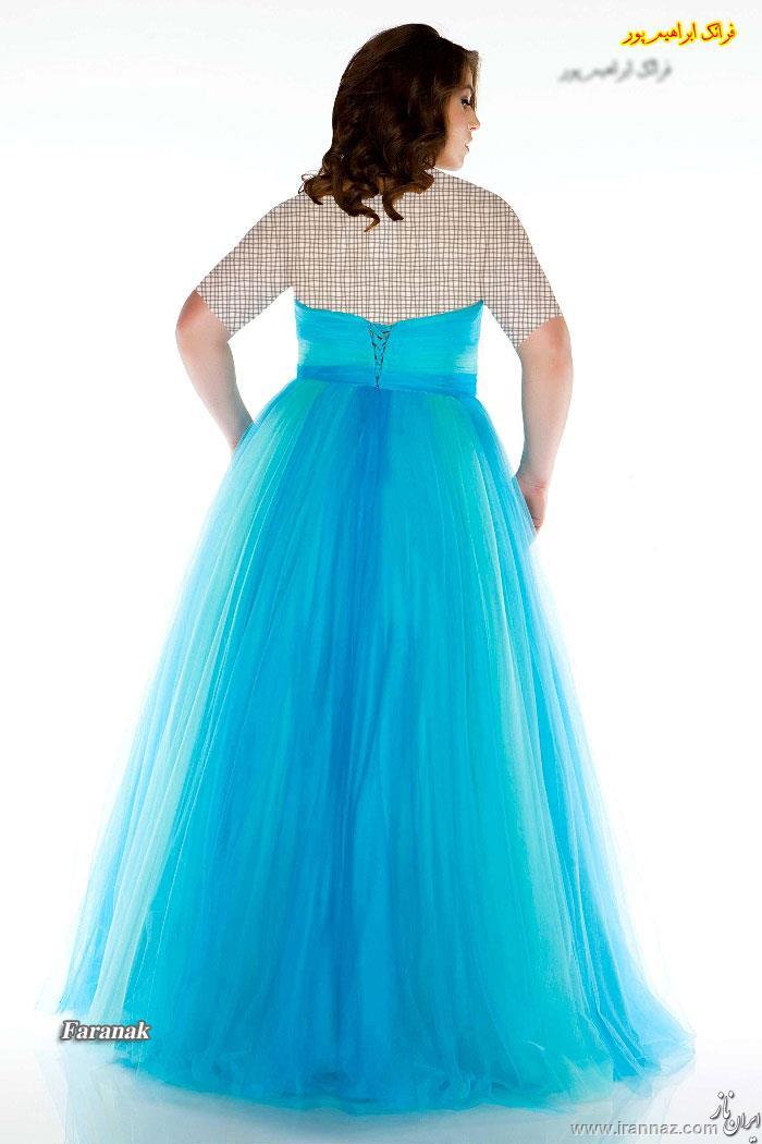 جدیدترین مدل های لباس نامزدی ویژه خانم های چاق