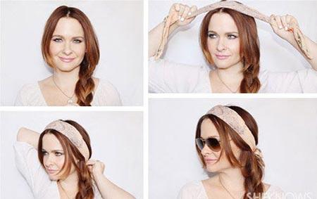 آموزش تصویری روش های متنوع بستن روسری