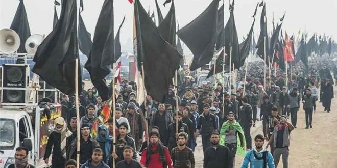 میلیونها زائر با پای پیاده برای عزاداری اربعین حسینی راهی کربلا شدند