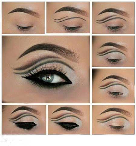آرایش چشم,آموزش آرایش چشم,آموزش آرایش چشم مجلسی
