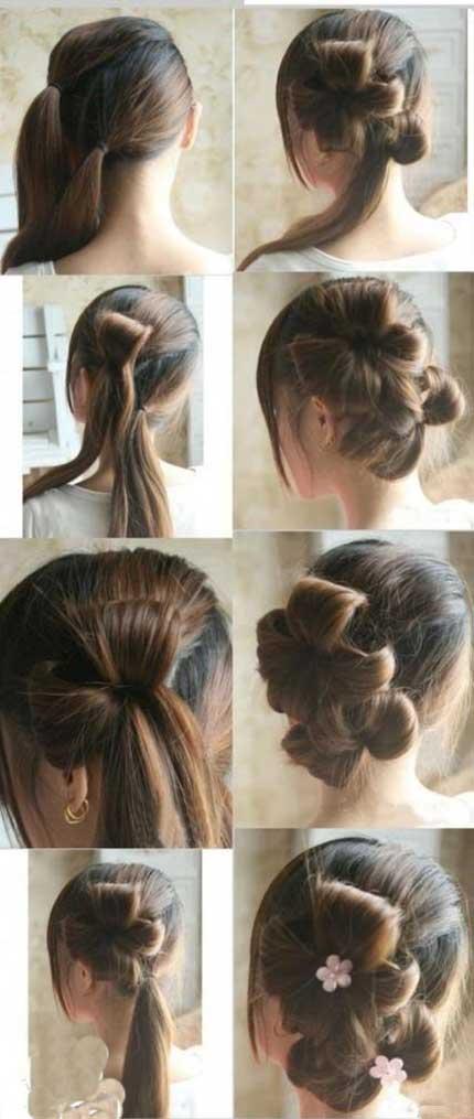 آموزش تصویری بستن مو ساده و،آموزش تصویری بستن مو