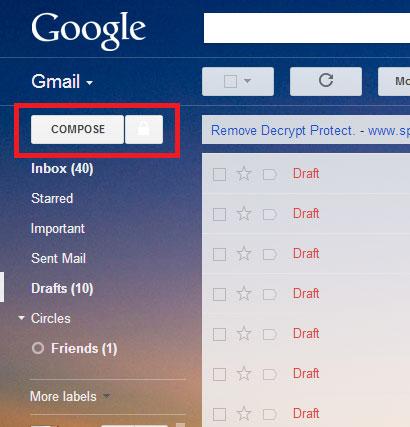 ایمیل های رمزگذاری, SecureGmail, مرورگر کروم