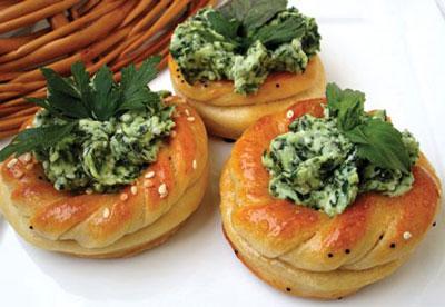 تزیین نان و پنیر سبزی برای مجالس ,طرز تهیه نان و پنیر و سبزیِ مجلسی