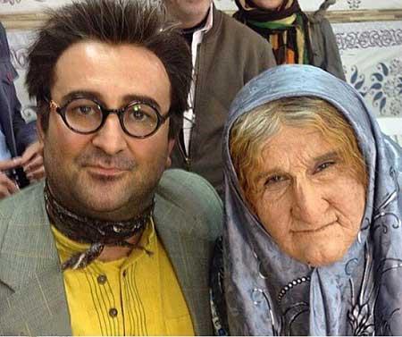 محسن تنابنده در نقش زن , گریم محسن تنابنده در نقش یک پیر زن