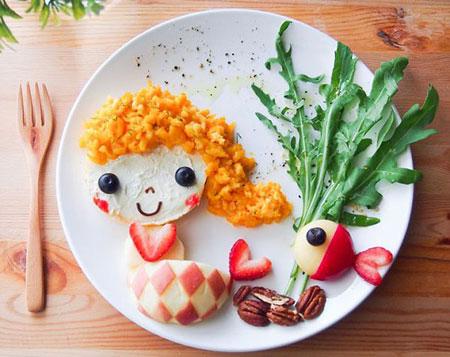 تزیین غذای کودک, نحوه تزیین غذای کودک