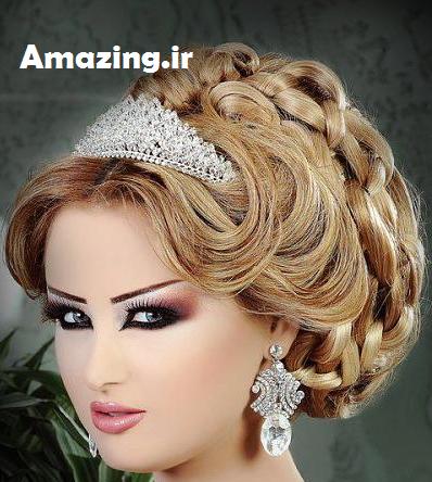 مدل مو عروس 2014, مدل آرایش عروس 2014,مدل شینیون عروس 2014, مدل میکاپ عروس 2014
