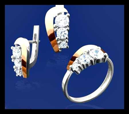 مدل های جدید ست انگشتر و گوشواره,ست انگشتر و گوشواره,مدل انگشتر و گوشواره