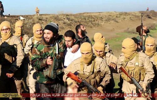 خلبان اردنی پس از اسارت به دست داعش