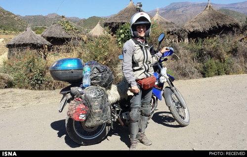 ماجراجویی زن ایرانی موتورسوار +عکس