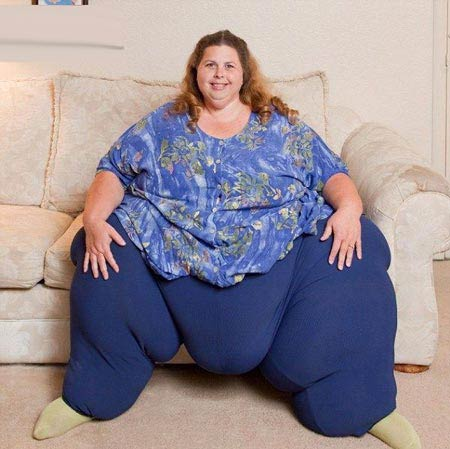 عکس های باور نکردنی از چاق ترین زن جهان با 300 کیلوگرم وزن